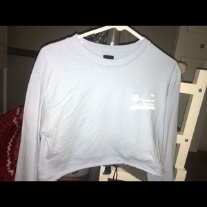 OBEY upcycled crop top